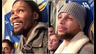 Kevin Durant & Stephen Curry trolling Drake after Warriors win vs Raptors