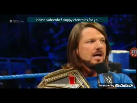 WWE Smackdown Live  Aj styles, James Elsworth and Dean Ambrose opening promo  6 December 2016 thumbnail
