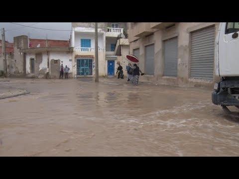 bila kinaa العاصمة تونس لما تنزل الأمطار شنوة يصير فيها
