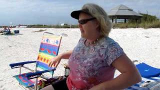 Petra's Beach Chair Workout On Lovers Key Beach In Florida April 9, 2010