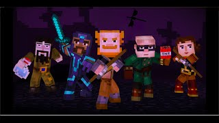 Minecraft Story Mode Ender Dragon Fight