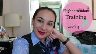 WORK TRIPS! | Flight Attendant Training | Week 4