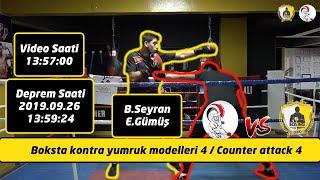 Boksta kontra yumruk modelleri 4 / Counter attack 4 / (Sol direkt yumruğa karşı kontra vuruşlar)