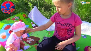 How the Baby Born Dolls in nature walk | Куклы Беби Бон и маленькие девочки Арина и Ярослава