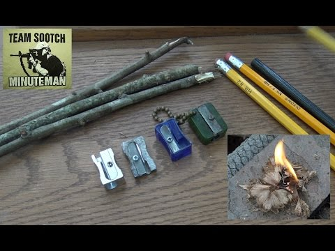 Pencil Sharpeners for Survival : Super useful Tool