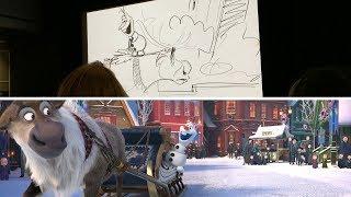 The digital progression of creating Olaf's Frozen Adventure