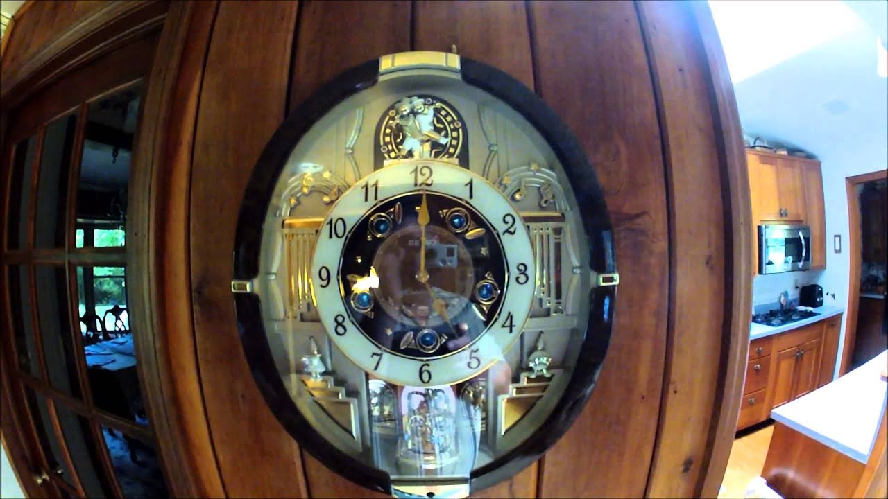 Seiko melodies in motion wall clock playing music and in motion seiko melodies in motion wall clock playing music and in motion youtube amipublicfo Images