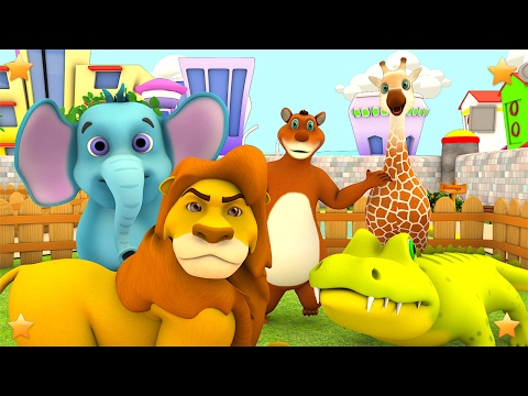 The Zoo Song | We're going to the Zoo | Animals Song | Kids Nursery Rhymes Songs by Little Treehouse