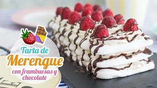 Meringue cake whit chocolate and rasperries | feat @SuperPilopi