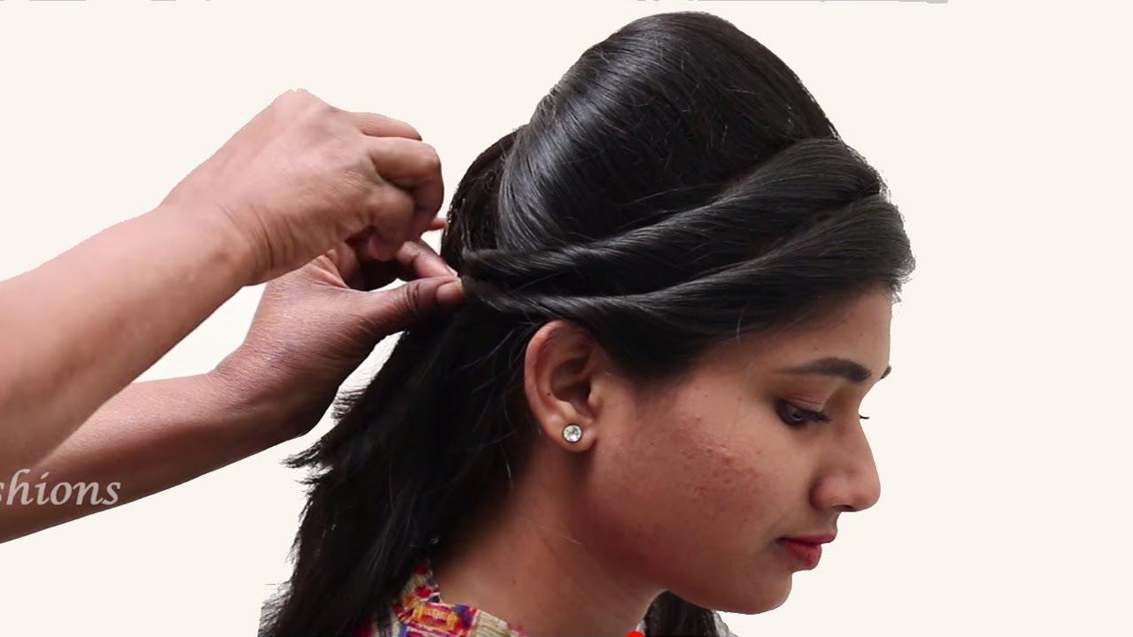 best side bridal hairstyle tutorials || new hairstyles videos || easy hairstyles videos 2018