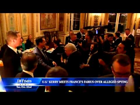 U.S.' Kerry Meets France's Fabius Over Alleged Spying
