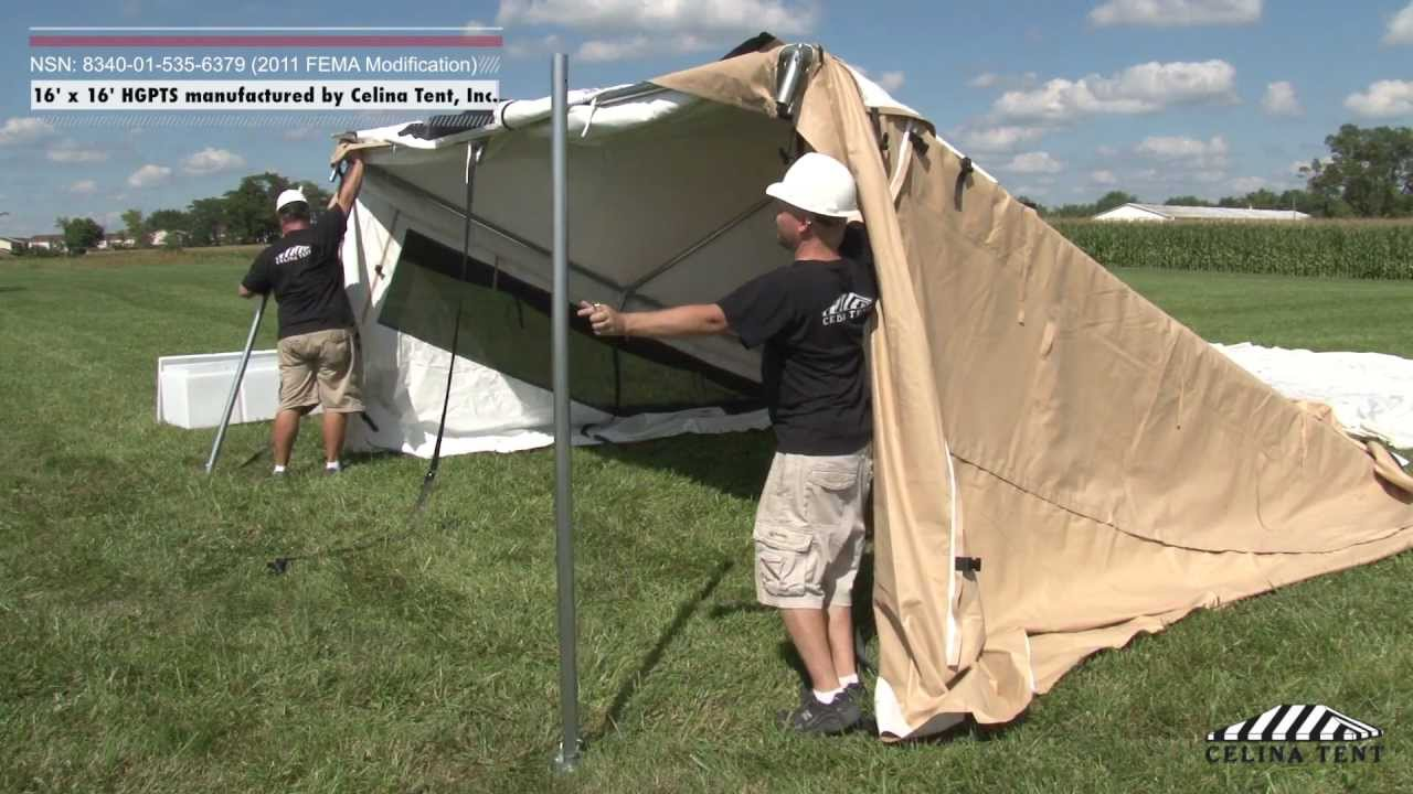 & 16 x 16 Humanitarian and General Purpose Tent System (HGPTS) - YouTube