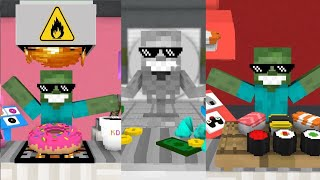 Monster School: WORK AT... SEASON 2 - Minecraft Animation