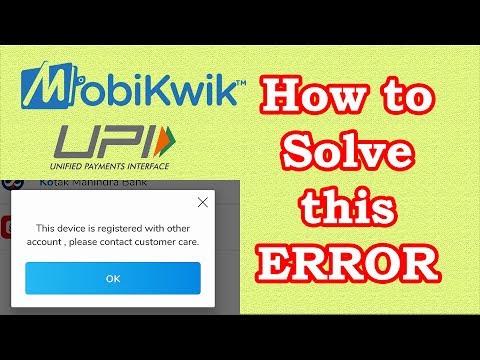 Device Is Already Registered - Mobikwik UPI Device Error Fix | Som Tips