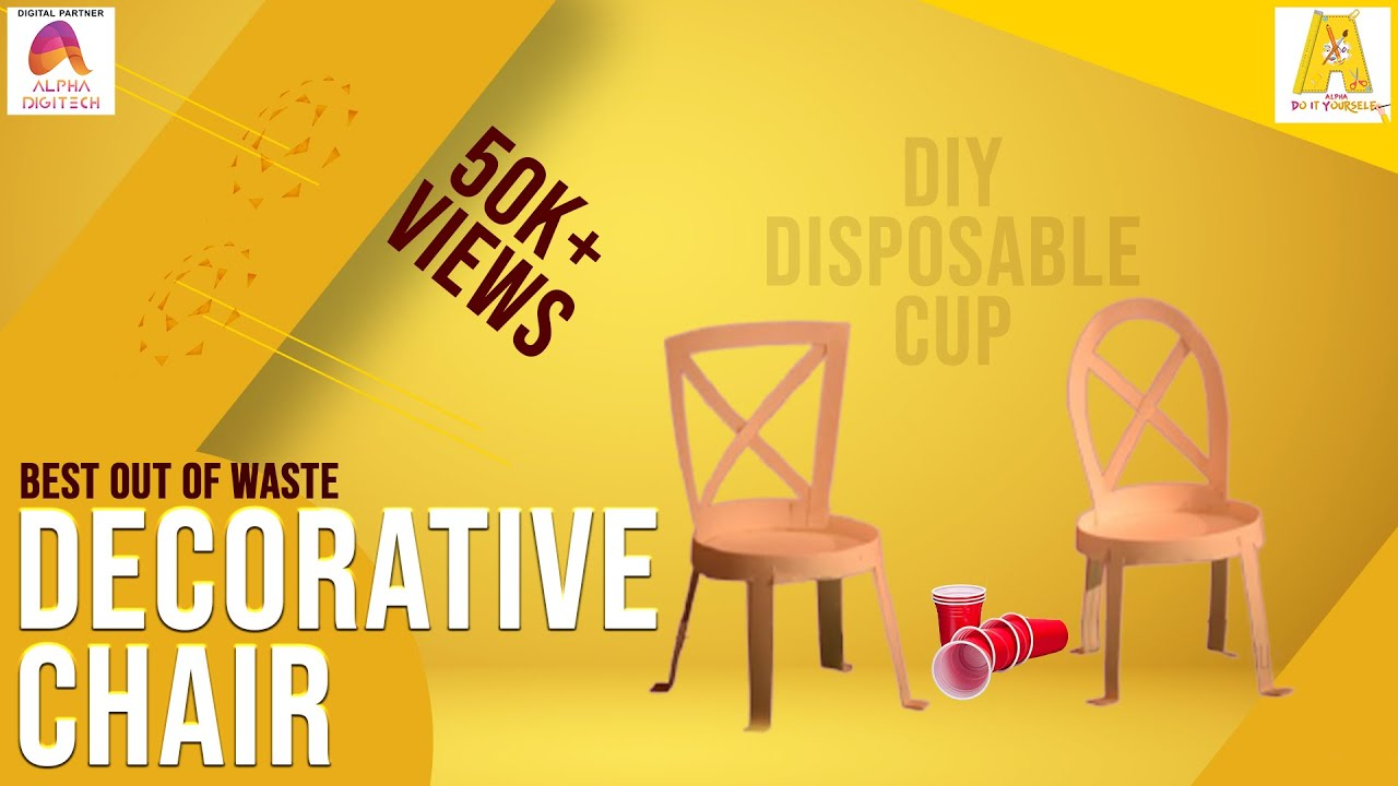 DIY : Disposable Cup - Decorative Chair | Children Art & Craft ...