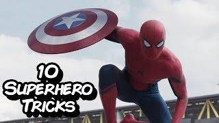 10 Superhero Tricks Anyone Can Learn In Real Life (Spiderman, Deadpool, Captain America)