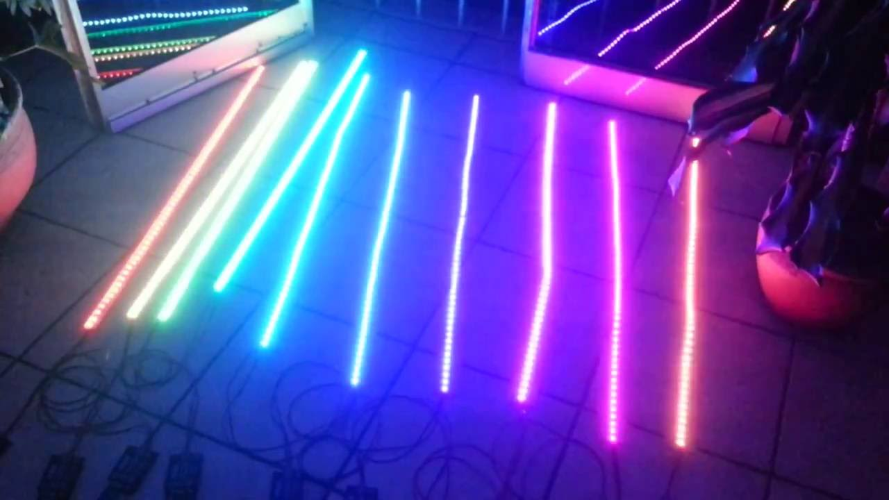 Controladora rgb dmx con tiras led youtube - Tiras de led rgb ...