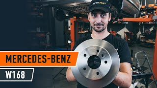 Hvordan erstatning Bremseskiver MERCEDES-BENZ A-Klasse 2019 - bruksanvisning