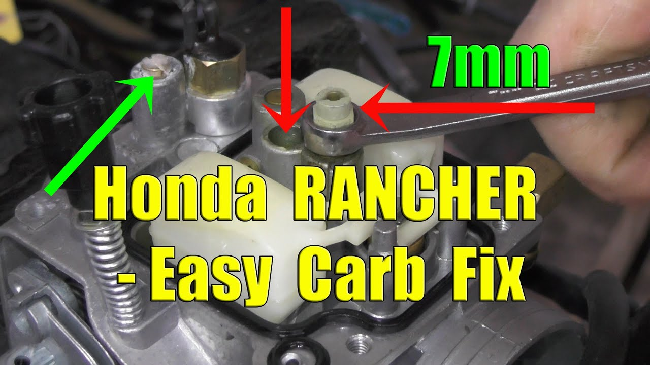 honda rancher fourtrax  carburetor removal and cleaning