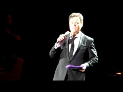 DONNY OSMOND BIRMINGHAM 03.02.17 YOUNG LOVE PURPLE CARD QUESTIONS