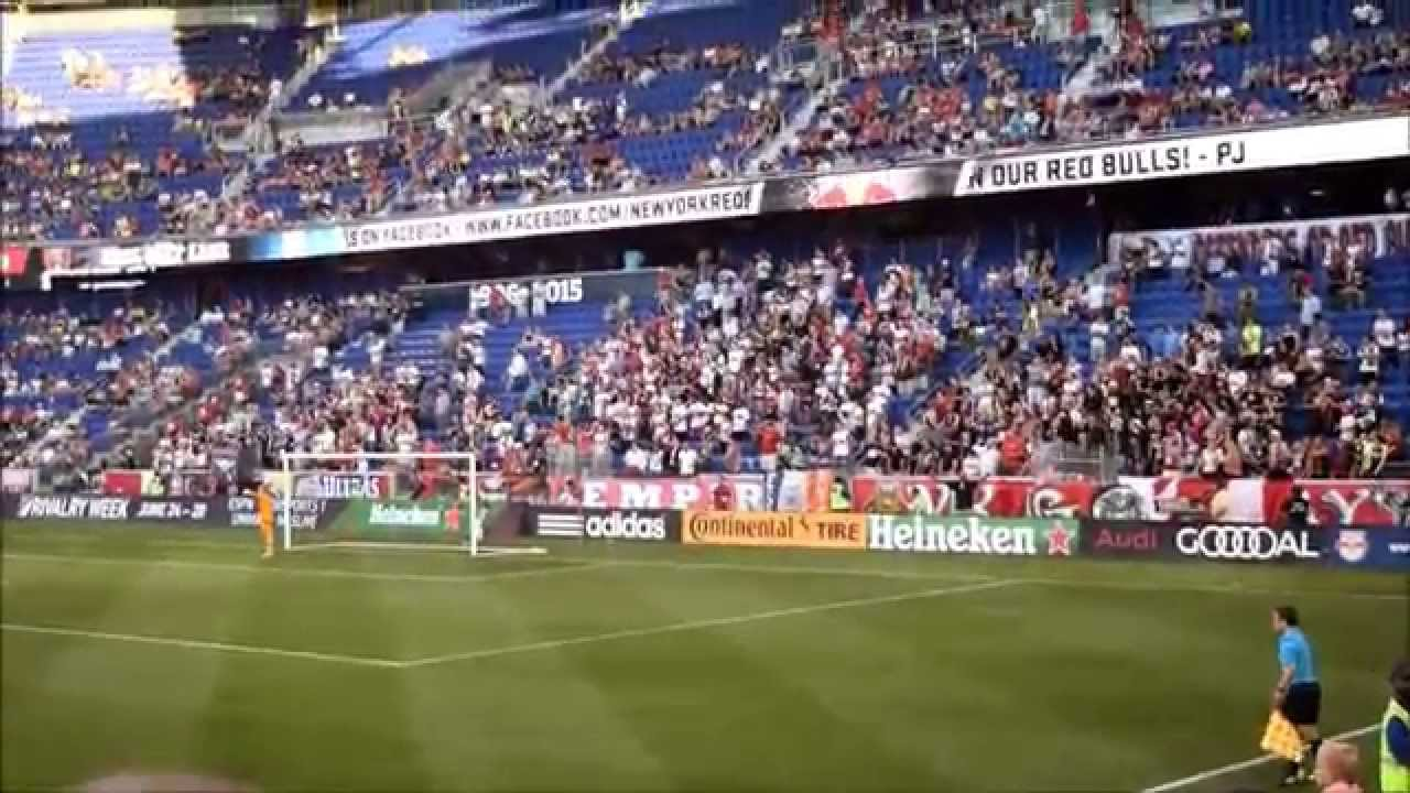 New York Red Bulls Supporters singing Twist and Shout