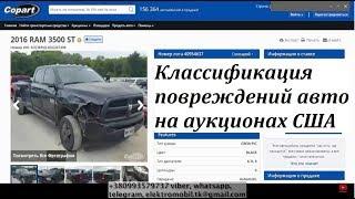 Классификация повреждений авто на аукционах США. Урок 2