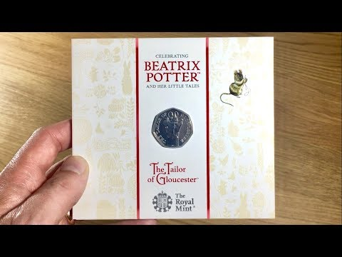 THE TAILOR OF GLOUCESTER 2018 50p COIN || UNPACKAGING / UNBOXING (BEATRIX POTTER - ROYAL MINT) VIDEO