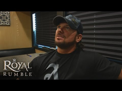 AJ Styles' first interview as a WWE Superstar prior to the 2016 Royal Rumble Match: Jan. 24, 2016
