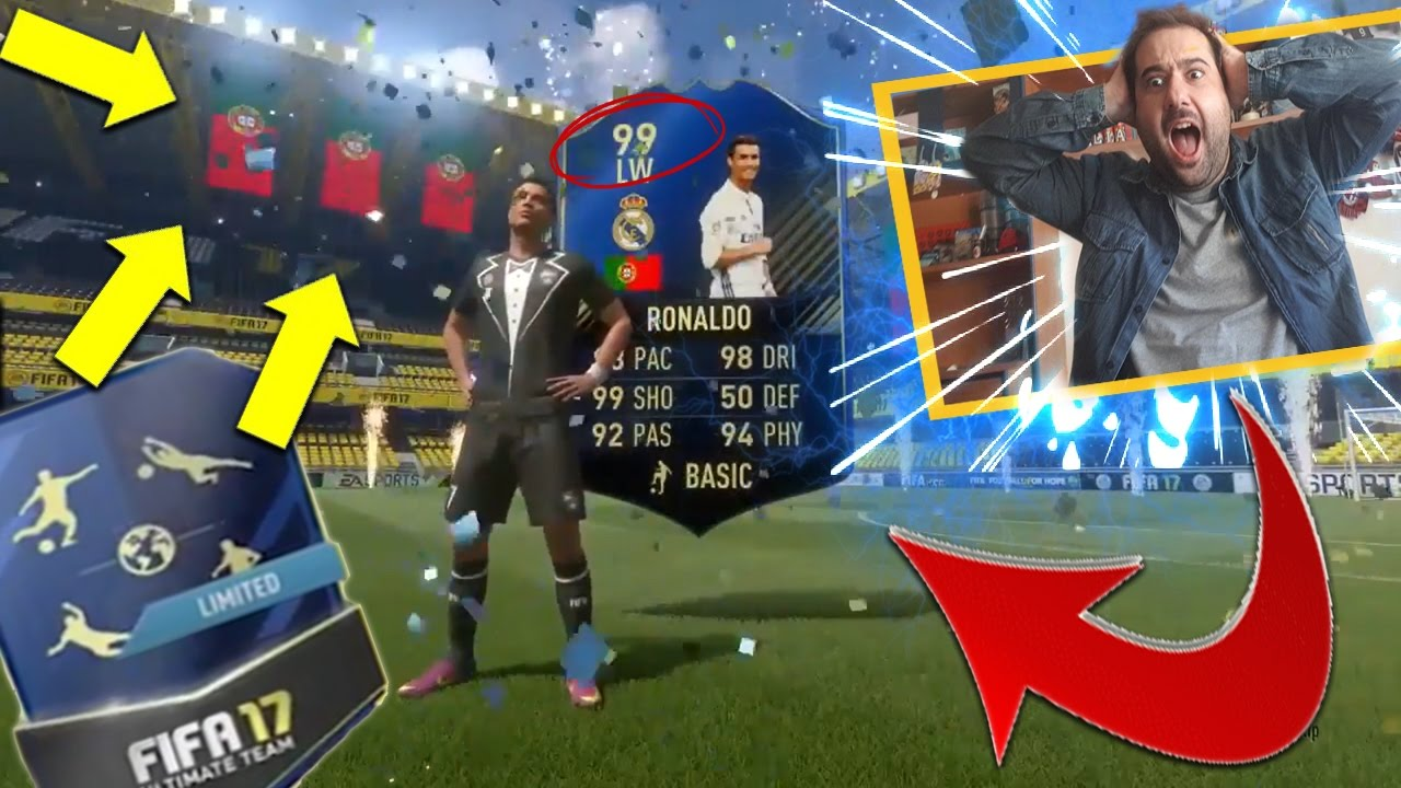 OMG!!! 99 RONALDO TOTY IN A PACK!!! *AMAZING PACK* FIFA 17 ...