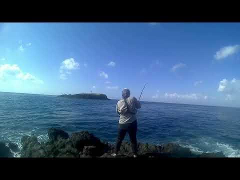 shore jigging di bugbug bali ( no mercy fight  vs needlefish )
