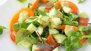 Салат с хурмой