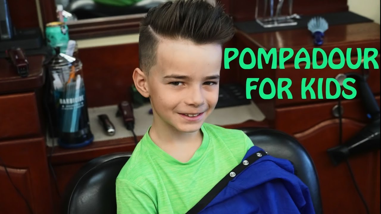 Best Barber In The World Pompadour Haircut For Kids Youtube