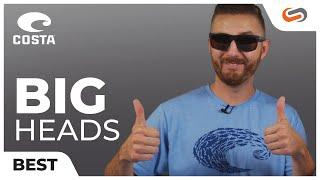 BEST Costa Sunglasses for BIG heads! || SportRx