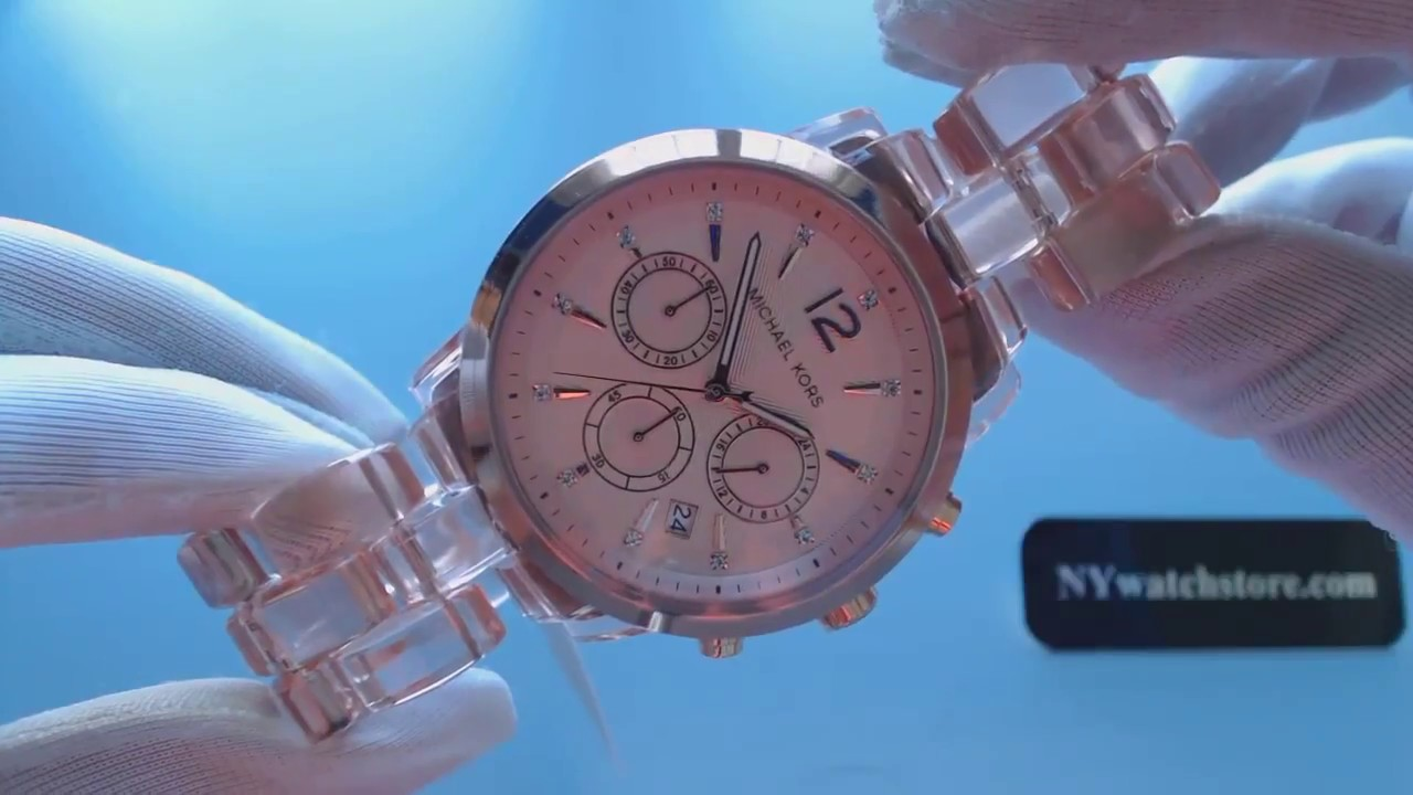 cd989a8f6f19 Women s Michael Kors Audrina Chronograph Glitz Watch MK6203 - YouTube