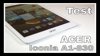 TEST : tablette Acer Iconia A1-830