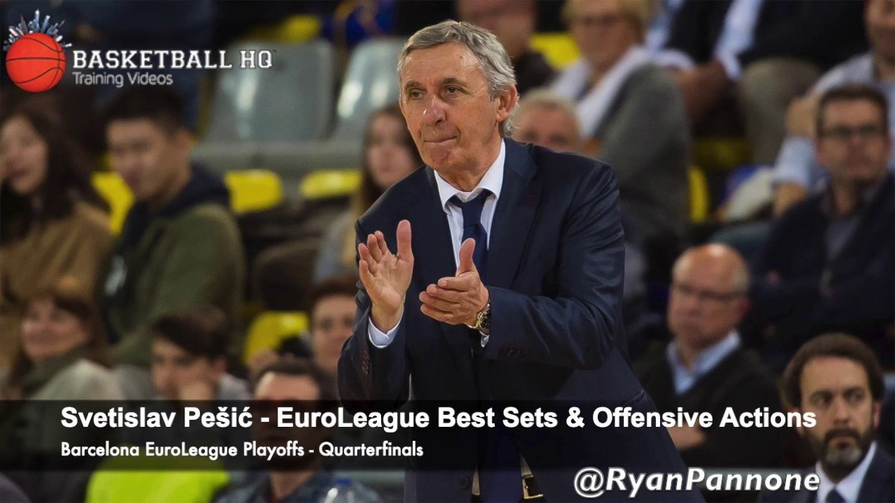 Svetislav Pešić Best Sets & Plays Barcelona 2019 Euroleague Quarterfinals