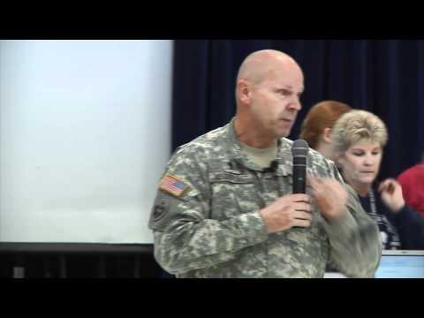 CH (LTC) David Vanderjagt speaks to Roosevelt Perry Elementary School students
