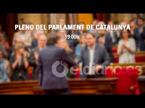 Carles Puigdemont comparece en el Pleno del Parlament de Catalunya
