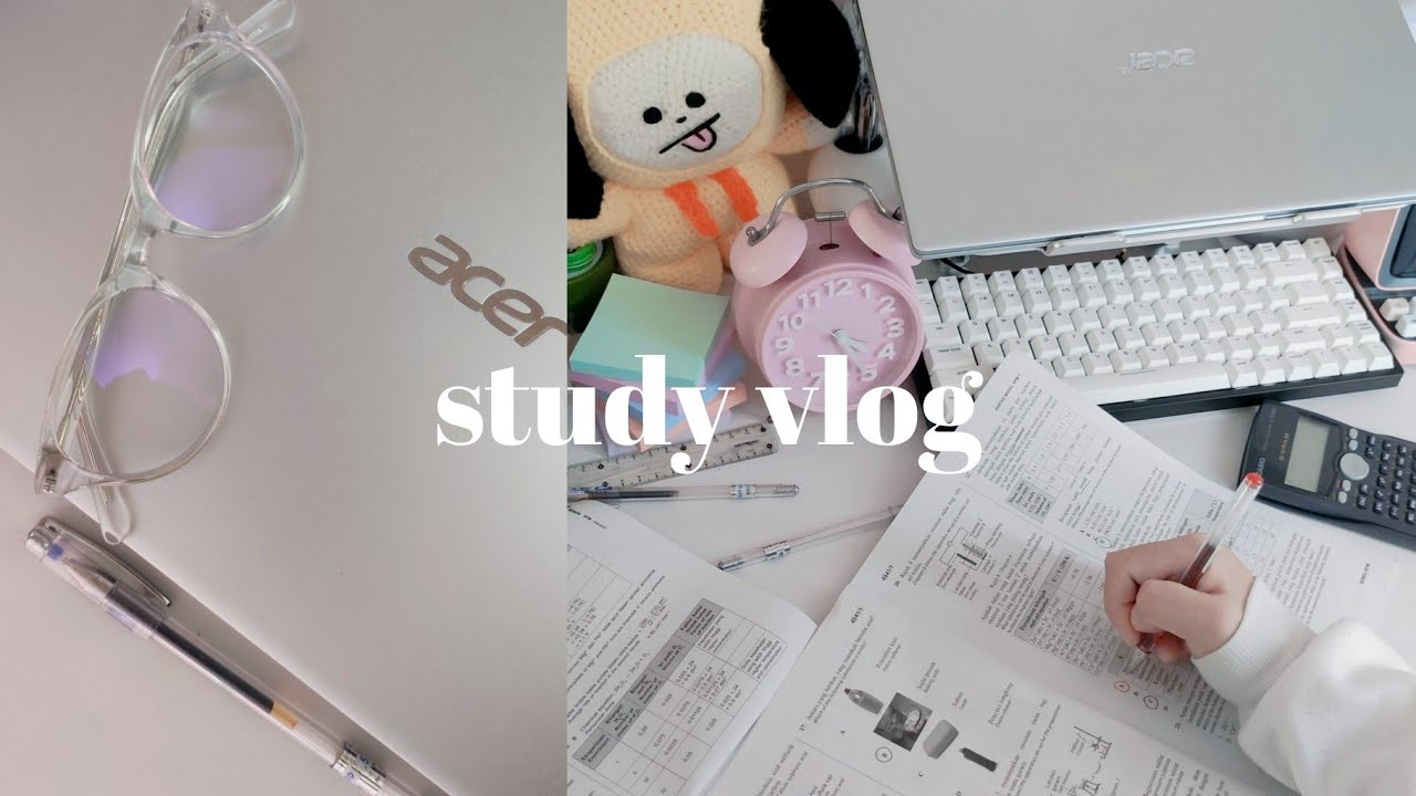 Download STUDY VLOG • 10 hour productive study day【exam revision, exam papers, flashcards】// 高效学习的周末