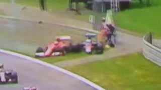 "[F1 Austrian GP] Alonso - Raikkonen CRASH [""HD""]"