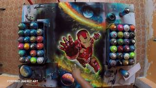 Iron Man Avengers Infinity War  Spray Paint And stencil