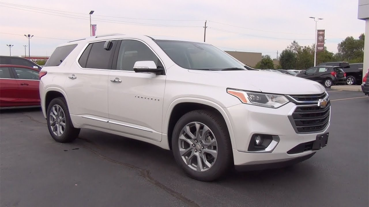 2018 Traverse White   Best new cars for 2020