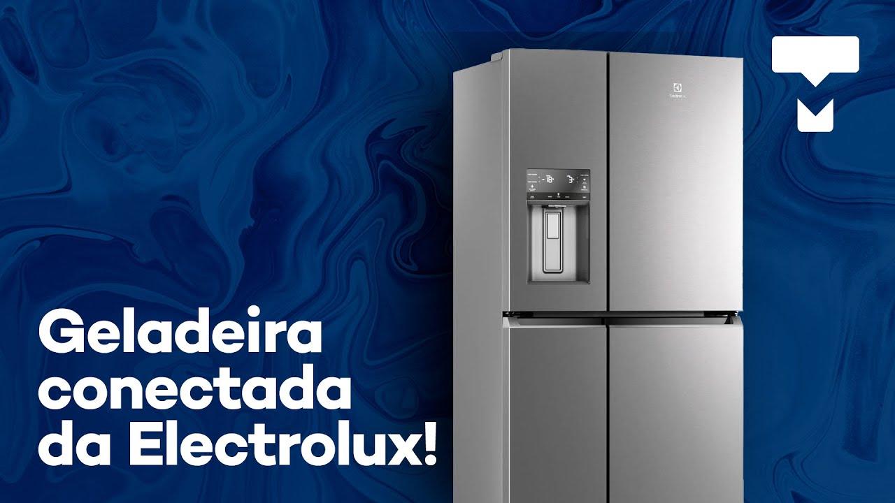Espaçosa, versátil e conectada ao seu celular! A geladeira multidoor DQ90X da Electrolux!