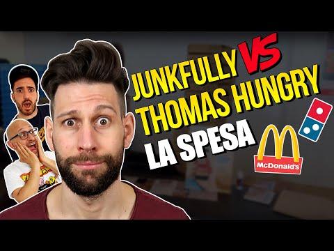 JUNKFULLY vs THOMAS HUNGRY: LA SPESA! 25 CHEESEBURGER, una PIZZA da DOMINO'S e TANTO BACON!