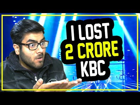 KBC with Shahrukh Khan - I LOST 2 CRORE 😭😭😵😵