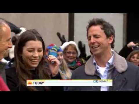 Jessica Biel And Seth Meyers Today Show December