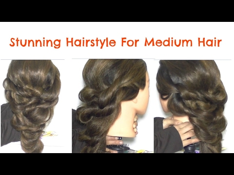 How To Make Easy Stunning Hairstyle For Medium Hair | Hairstyle Tutorial