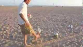 Дэвид Бэкхем сделал невозможное на пляже