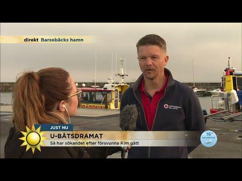 Sjöräddningen har gjort fynd i sökandet efter Kim Wall - Nyhetsmorgon (TV4)