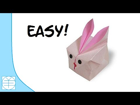 Easy Origami Inflatable Bunny